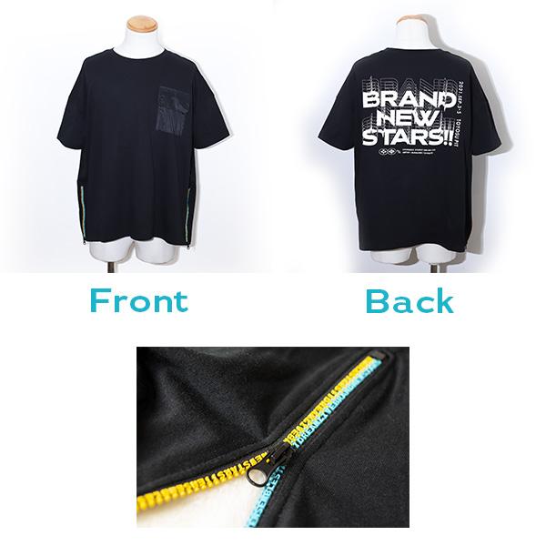 ロゴジッパーTシャツ BNS!!Edition